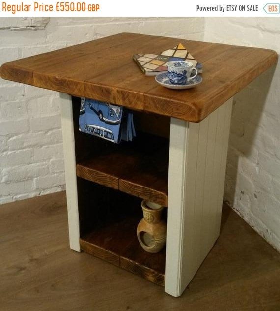 August sale FREE Delivery! F&B Solid Reclaimed Pine Butchers Block Kitchen Island Village Orchard Furniture