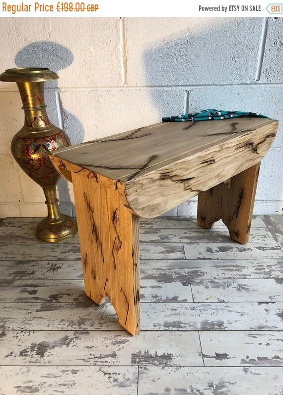 Bonfire Sale / Solid English Oak HandMade ' Ye-Old School Bench ' Dining Bedroom Table Bench - English Made