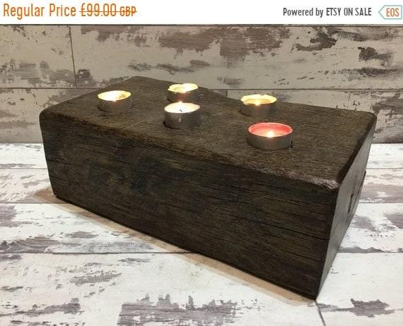 Xmas SALE Beautiful 1800's Maritime Solid English Oak Ships Beam Reclaimed Candle Shelf - ONLY 1 !