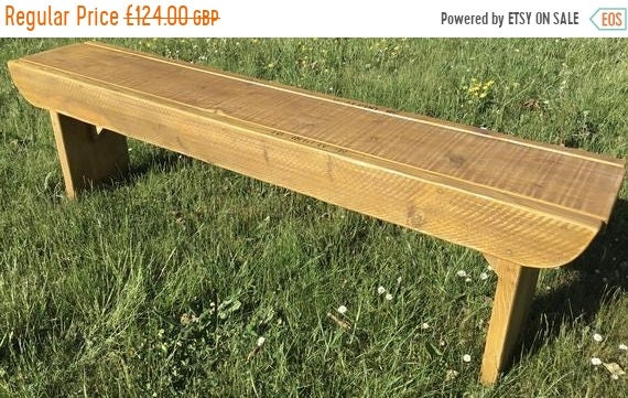 VALENTINE Sale NEW! Golden Oak Old School Antique 3ft Rustic Solid Reclaimed Pine Dining Plank Table Chair Bench - Village Orchard Furniture