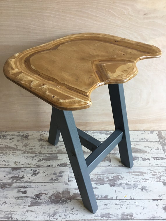 Comfy Seat Pine Farrow Ball Painted Reclaimed Wood Kitchen Island Bar Stool Farrow Ball Paint