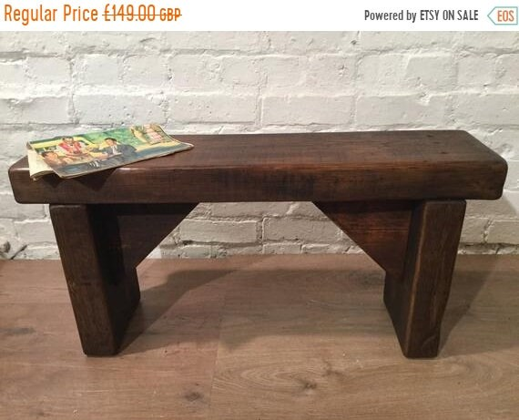 Xmas Sale HandMade 1800s Solid Rustic Wood Reclaimed Pine Dining Table Chair Vintage Bench - Village Orchard Furniture