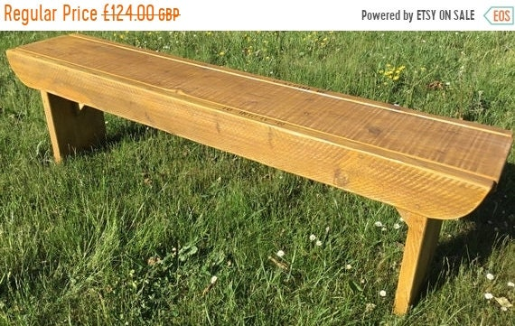 Spring Sale NEW! Golden Oak Old School Antique 3ft Rustic Solid Reclaimed Pine Dining Plank Table Chair Bench - Village Orchard Furniture