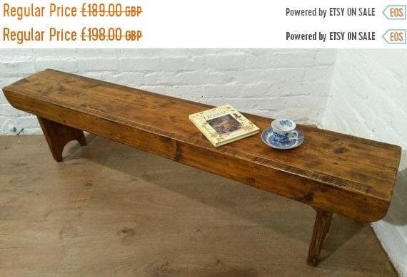 Halloween Sale Old School Antique 5ft Rustic Solid Reclaimed Old School Pine Dining Plank Table Chair Bench - Village Orchard Furniture