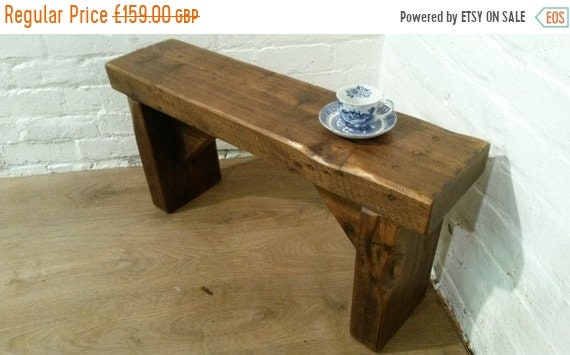 Halloween Sale Free Delivery! CHURCH BEAM Solid Rustic Wood Reclaimed Pine Dining Table Chair Vintage Bench - Village Orchard Furniture