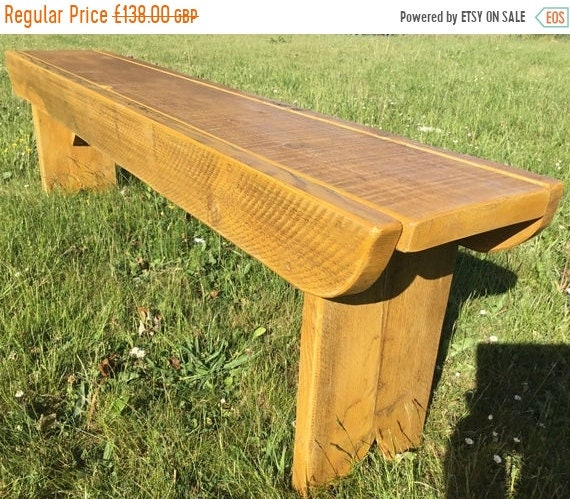 Xmas SALE NEW! Golden Oak Old School Antique Rustic Solid Reclaimed Pine Dining Plank Table Chair Bench - Village Orchard Furniture