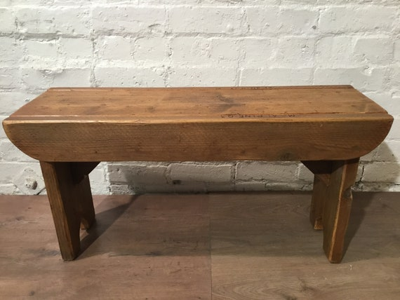 Bonfire Sale / Old School Antique 4ft Rustic Solid Reclaimed Old School Pine Dining Plank Table Chair Bench - Village Orchard Furniture