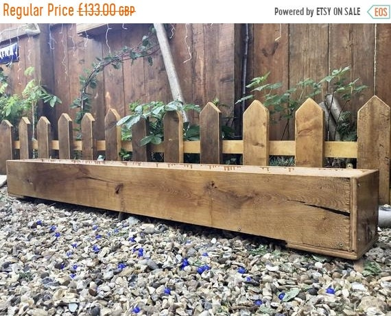HUGE Sale NEW! 6ft British Hand Made Rustic Solid Wood Oak & Ply Garden Flower Trough Planters