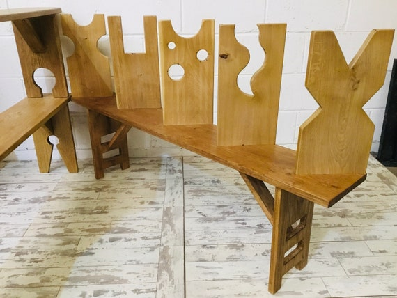 Spring-Sale 4ft OOAK Contemporary Artisan Hand Made Solid Vintage Oak Dining Study Bench - With your LEG Choice!