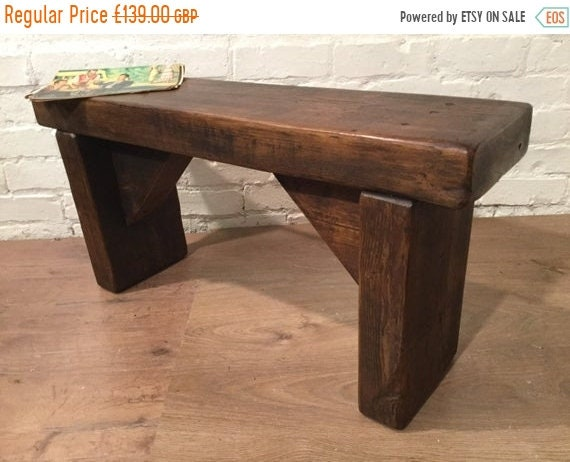 Xmas SALE 3ft HandMade 1800s Solid Rustic Wood Reclaimed Pine Dining Table Chair Vintage Bench - Village Orchard Furniture