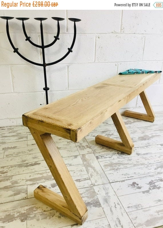 June Sale 3ft Solid Reclaimed Vintage English Oak HandMade Table Chair Z-Bench