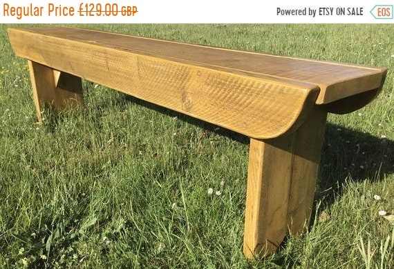 8 SALE 8 NEW! Golden Oak School Antique 4ft Rustic Solid Reclaimed Old Pine Dining Plank Table Chair Bench - Village Orchard Furniture