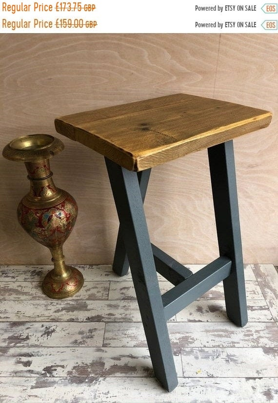 HUGE Sale HandMade Compact Pine Farrow Ball Painted Reclaimed Wood Kitchen Island Bar Stool Farrow Ball Paint