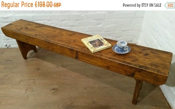 Halloween Sale Old School Antique 6ft Rustic Solid Reclaimed Old Pine Dining Plank Table Chair Bench - Village Orchard Furniture