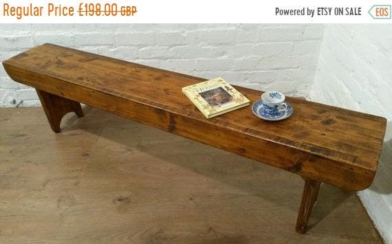 XMAS Sale Old School Antique 6ft Rustic Solid Reclaimed Old Pine Dining Plank Table Chair Bench - Village Orchard Furniture
