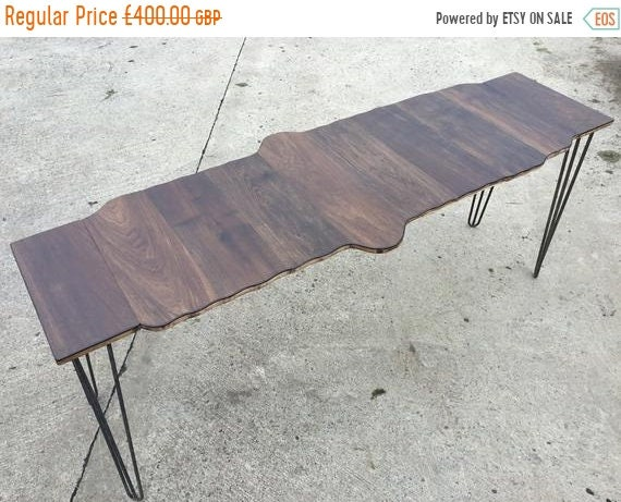 BIG Sale 6ft Solid Oak, Reclaimed Pine & Contemporary Ply Study Console Hairpin Leg Table - Only This 1 !