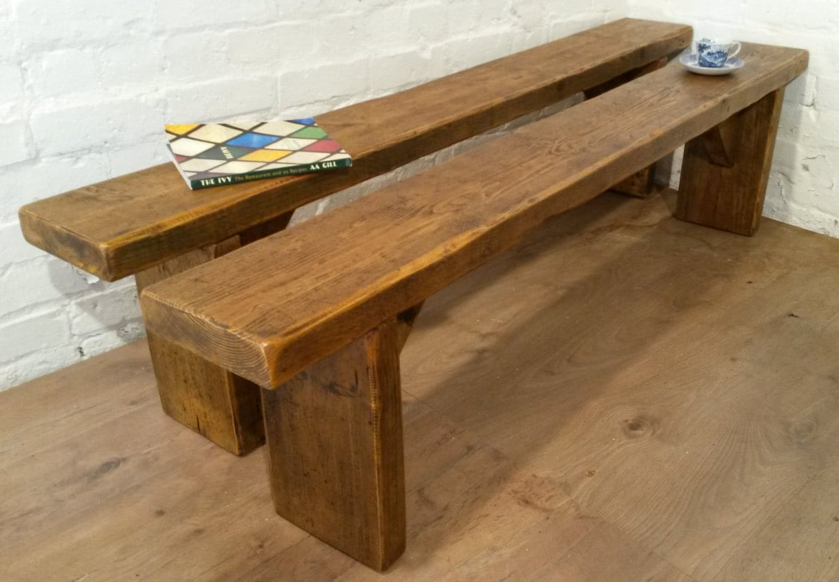 Phenomenal Free Delivery X2 6Ft Pair Solid Reclaimed Pine Dining Gmtry Best Dining Table And Chair Ideas Images Gmtryco