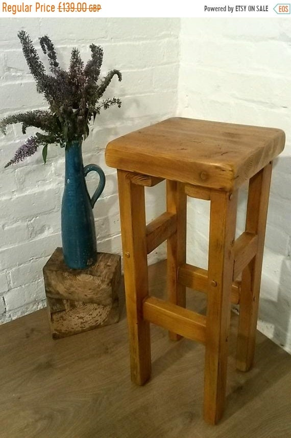 June Sale FREE DELIVERY! Hand Made Reclaimed Solid Wood Kitchen Island Bar Stool
