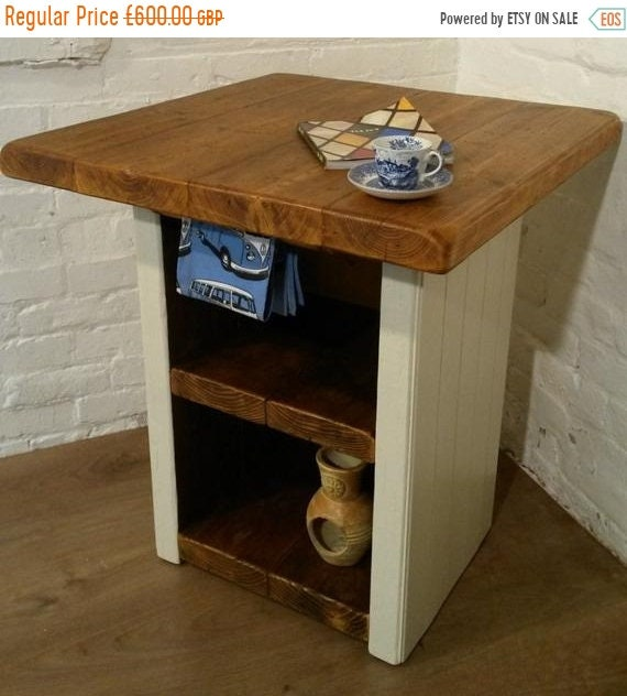 June Sale FREE Delivery! F&B Solid Reclaimed Pine Butchers Block Kitchen Island Village Orchard Furniture