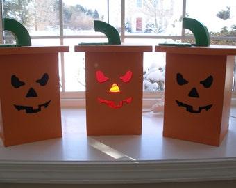 Jack O Lantern Pumpkin Box with Light