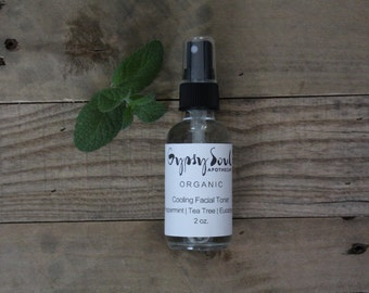 Organic Cooling Toner Peppermint | Tea Tree | Eucalyptus