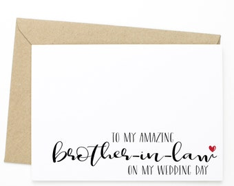 To My Amazing Brother On My Wedding Day On My Wedding Day Card For Brother