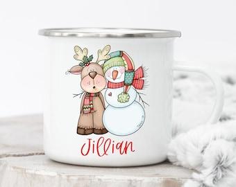 Personalized Kids Christmas Mug - Christmas Mug, Mug For Kids, Hot Chocolate Mug, Kids Camp Mug, Personalized Camp Mug Kids