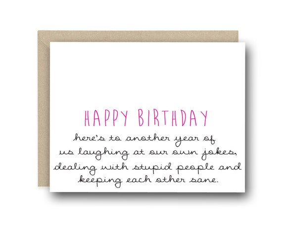 Funny Birthday Card Heres To Another Year Of Us Etsy