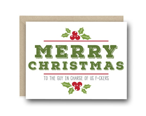 Funny christmas card for boss merry christmas to the guy in etsy image 0 m4hsunfo