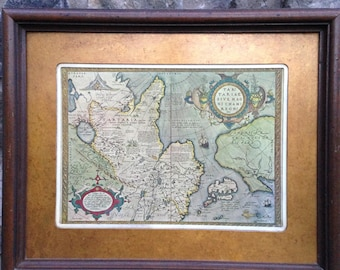 Tartaria map etsy ancient old world mapkingdom of great khan maptartariae sive magni chami regni typus mapvintage old world map framed gumiabroncs Images