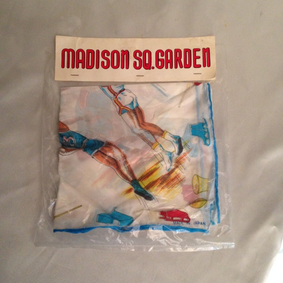 New York Madison Square Garden Scarf/Mid Century N