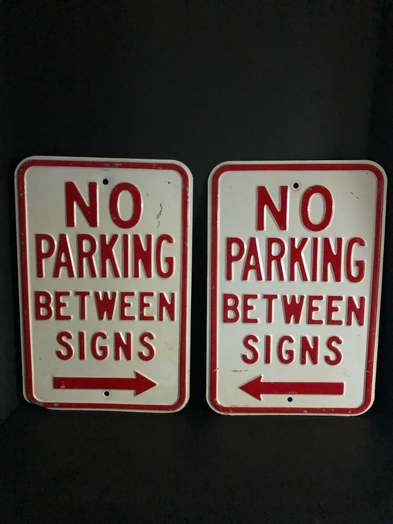 """No Parking Any Time with right arrow Sign 12/""""x18/"""" Heavy Gauge Aluminum Signs"""