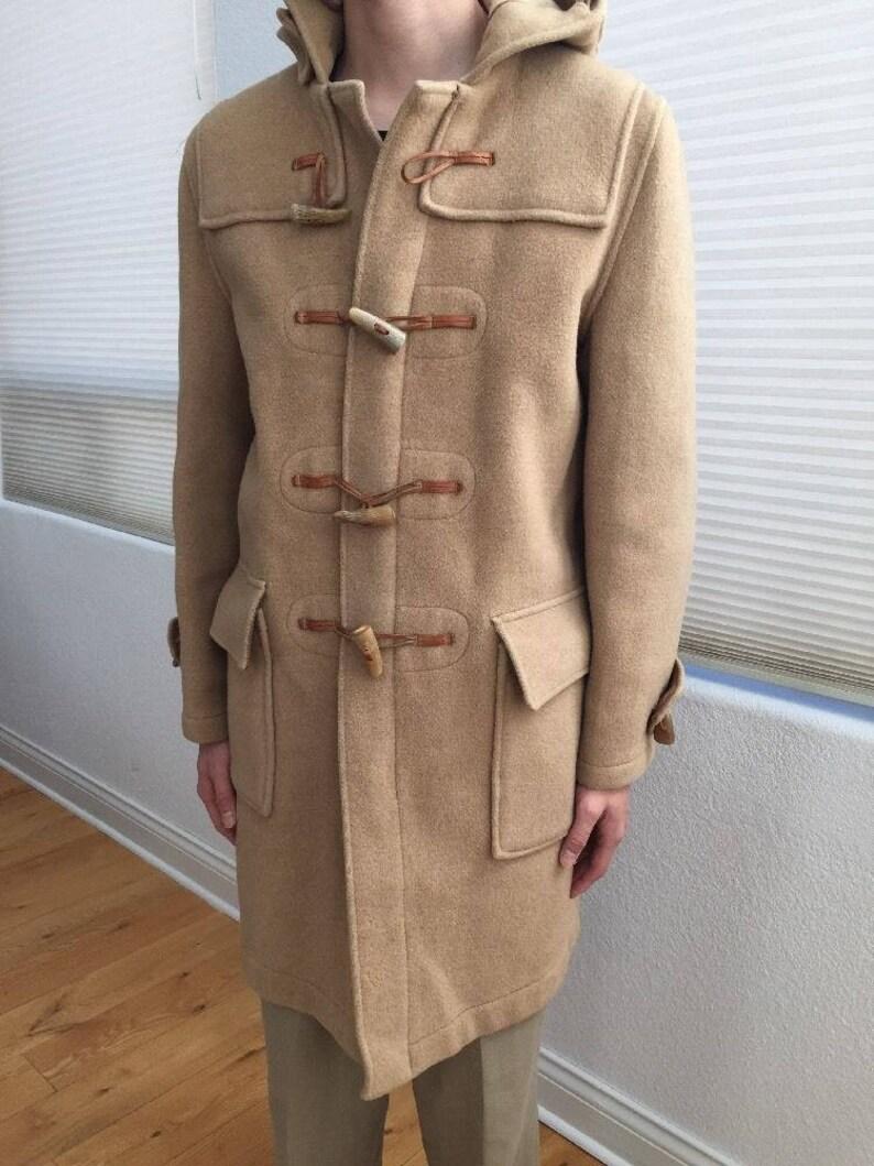 Vintage Gloverall Original English Duffle Duffel Coat Wool Brown 38 Mens Small Vintage S British UK vtg 1960s