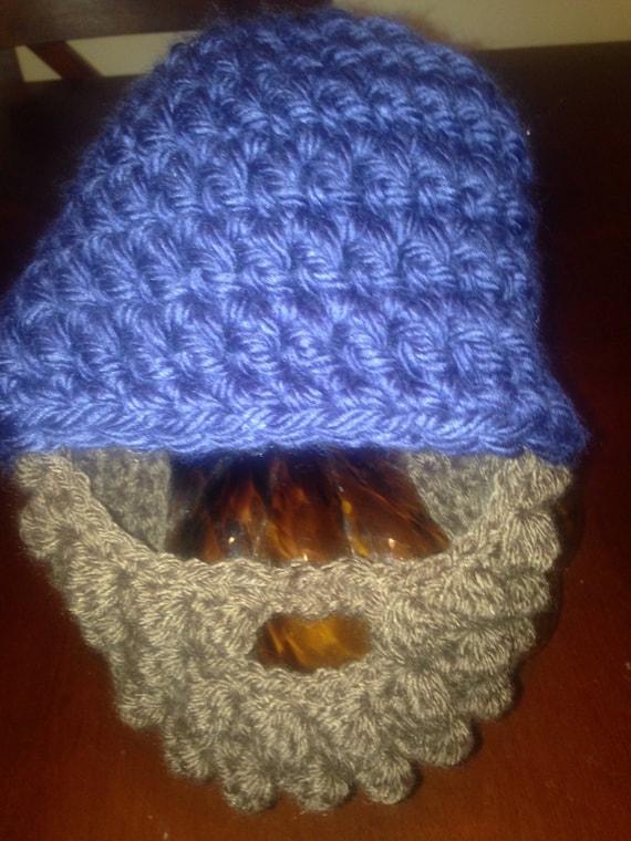 935532ebbdb15 Child Toddler Adult Size Beard and Beanie Crochet Handmade
