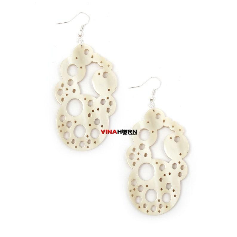 Accessories- ER01491 earrings horn charm,corno pendente FREE SHIP-Organic Horn earrings Horn Jewelry,Horn Pendant,Horn Schmuck