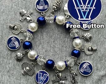 NCAA Villanova Wildcats Champions Bracelet free button