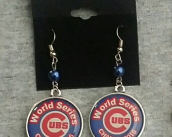 Chicago Cubs earring