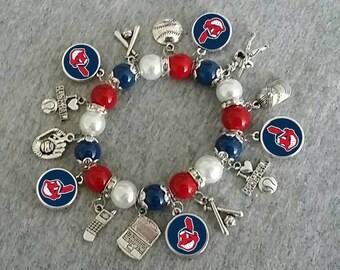 Cleveland Indians bracelet