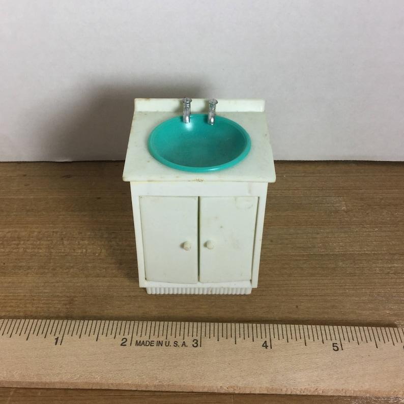 Dollhouse Furniture Ideal Vintage 1969bathroom Sink Etsy