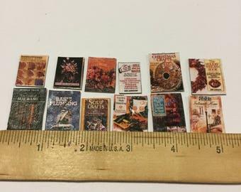Dollhouse vintage books one dozen #7