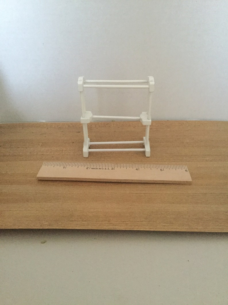 Dollhouse Furniture Melissa And Doug Wooden White Towelquilt Rack