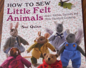 TOY SEWING PATTERN SUE QUINN/'S CYRIL THE SQUIRREL