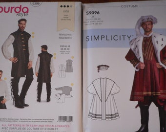 Men's Renaissance Costumes. Like New, Uncut sewing patterns sold separately. See descriptions for sizing.