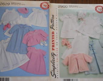 Baby Layette, Simplicity Sewing Patterns.  Like new patterns, 1950-1940 reproduction patterns sold separately.