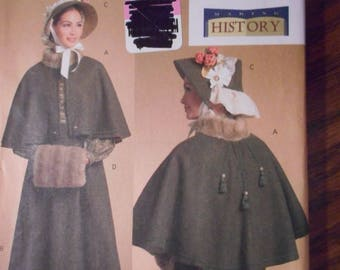 Adults and Teens:  Christmas carolers,  Mid 1800's Coats and Bonnets, Shawls, Bags, Etc.  Historical Costume patterns