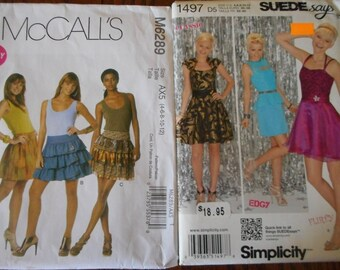 Teen Fashions - Sewing Patterns, Sizes 4-12