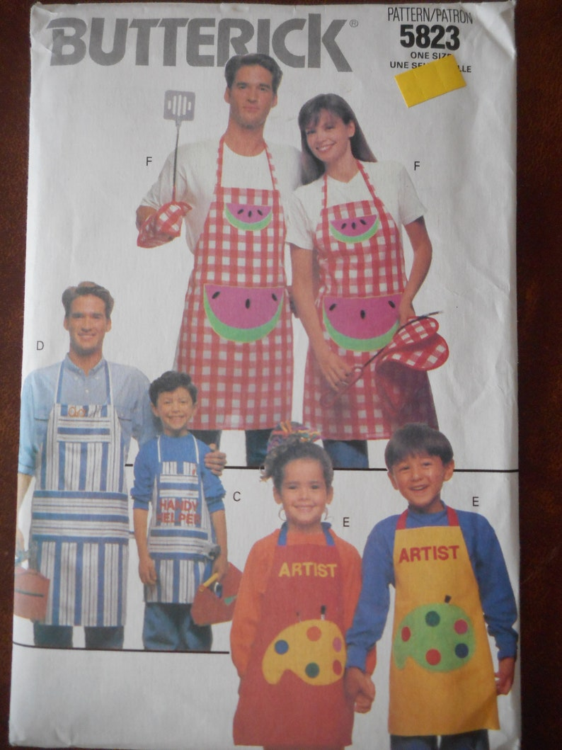 9b143b9b707 Bib Apron Patterns Your Choice Childrens sizes 4-10 and