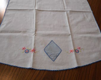 Vintage Dish Towel - Hand Embroidered and Appliqued