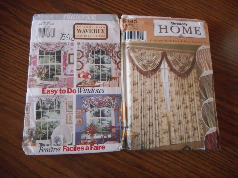 Your choice of like new sewing patterns. Curtains and Valances Window Treatments