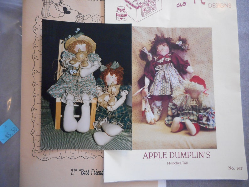 Rag Doll Patterns with Kittens - Your Choice, NOS